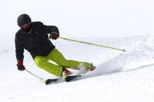 back pain after skiing